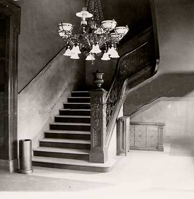 Front Lobby and Stairway, prior to 1911.