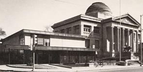 Library exterior, south circa 1976